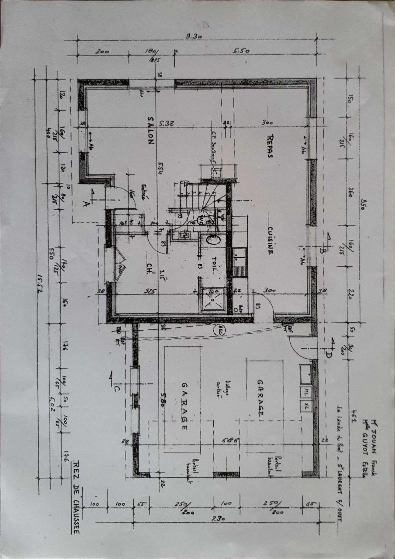 Plan 2D du rez-de-chaussée